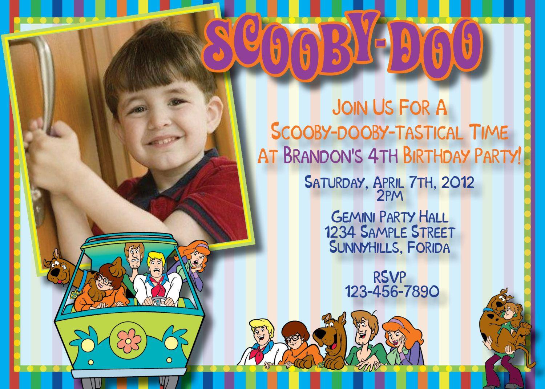Scooby Doo Birthday Invitation Digital by CreativeStarDesigns