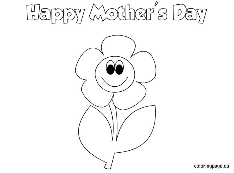 Mother\'s day coloring page for kids | Mother\'s Day | Pinterest