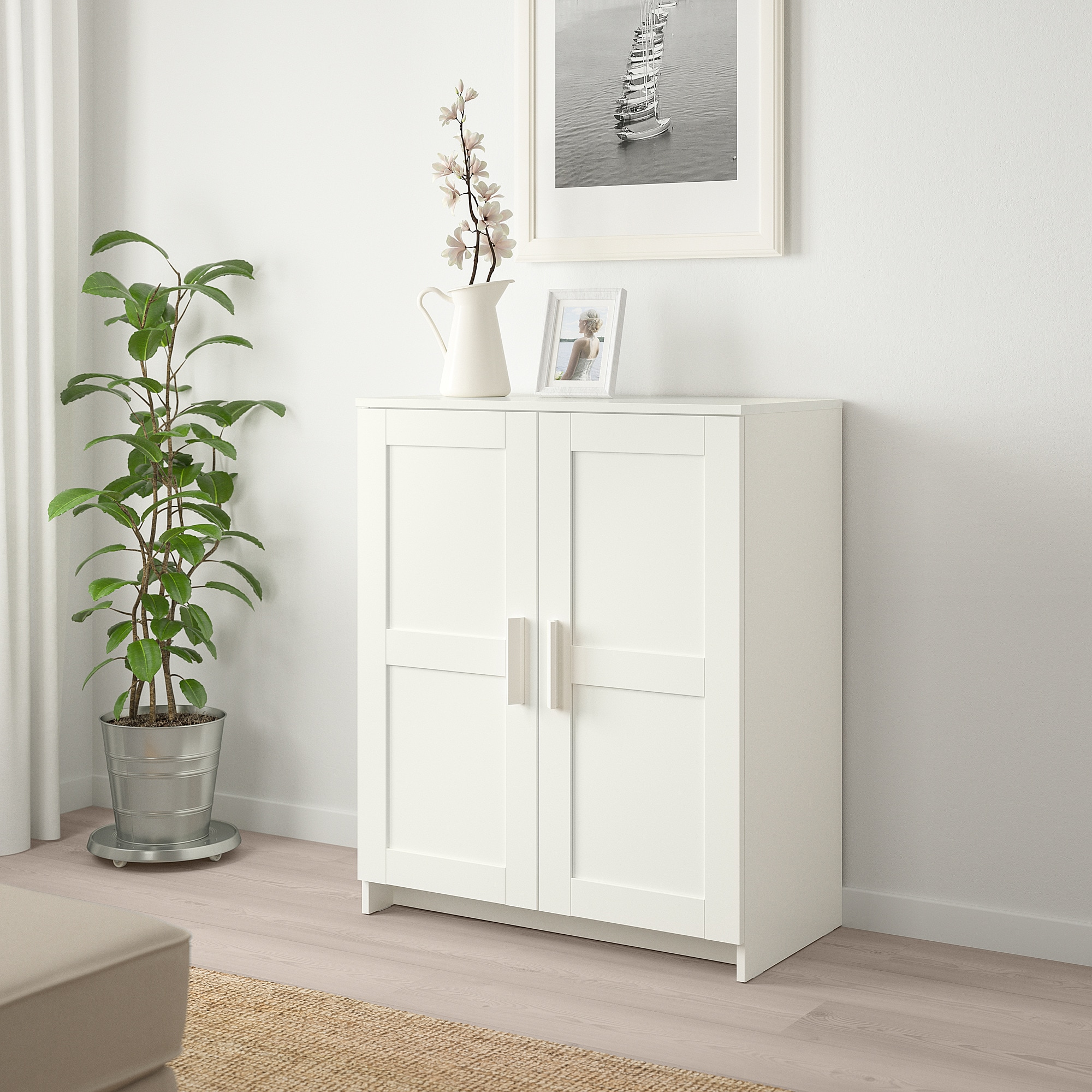 Ikea Brimnes Cabinet With Doors White Small Storage Cabinet