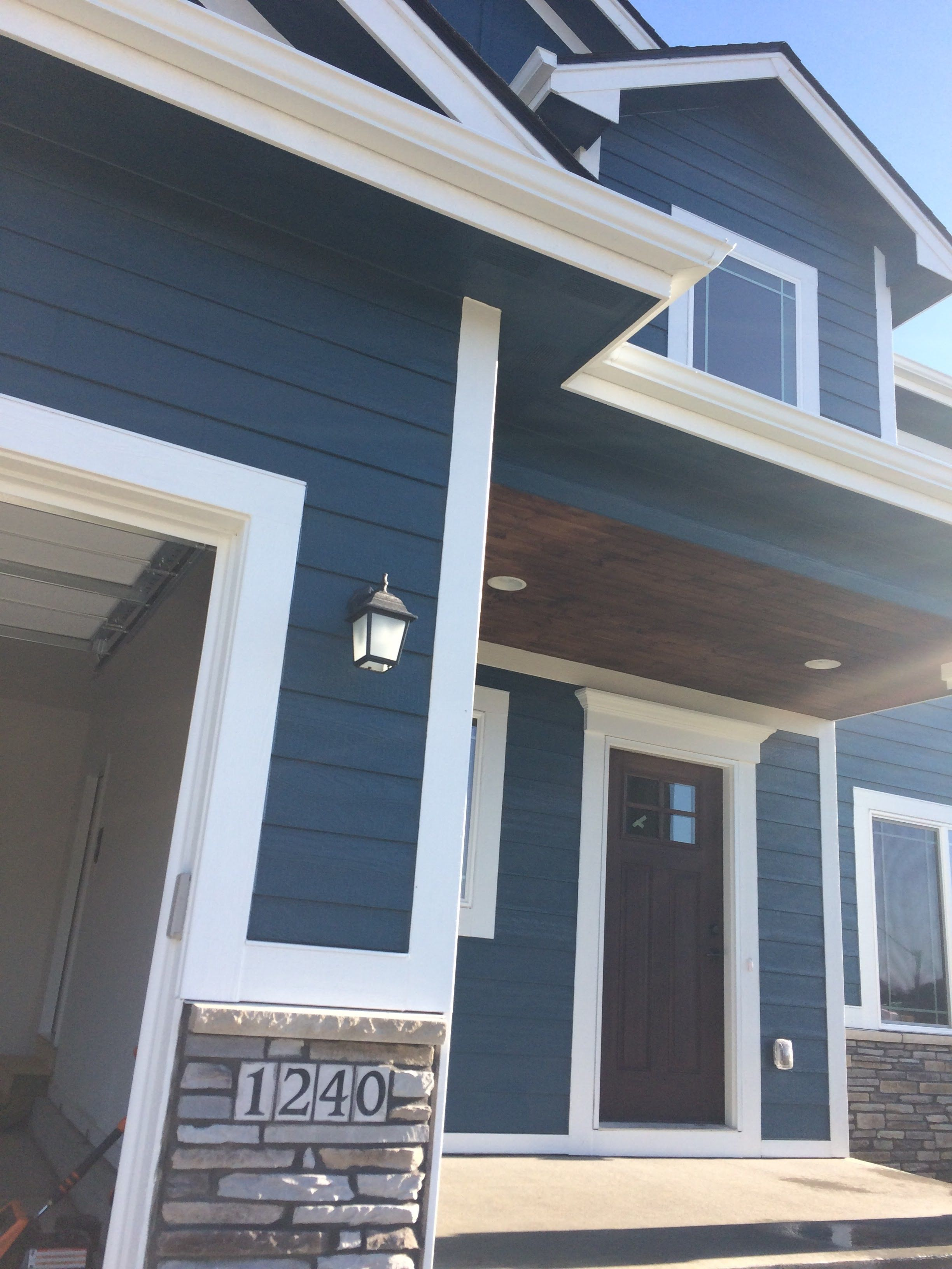 Newburg Green Exterior Color Stained Porch Craftsman