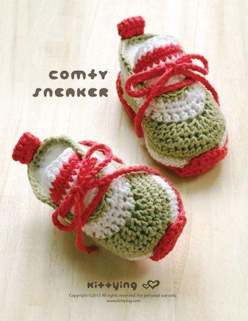 Comfy Baby Sneakers Crochet Pattern Kittying Crochet Pattern By