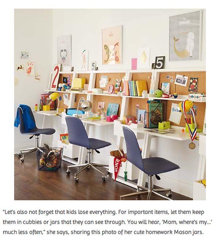 Homework area for 3 kids