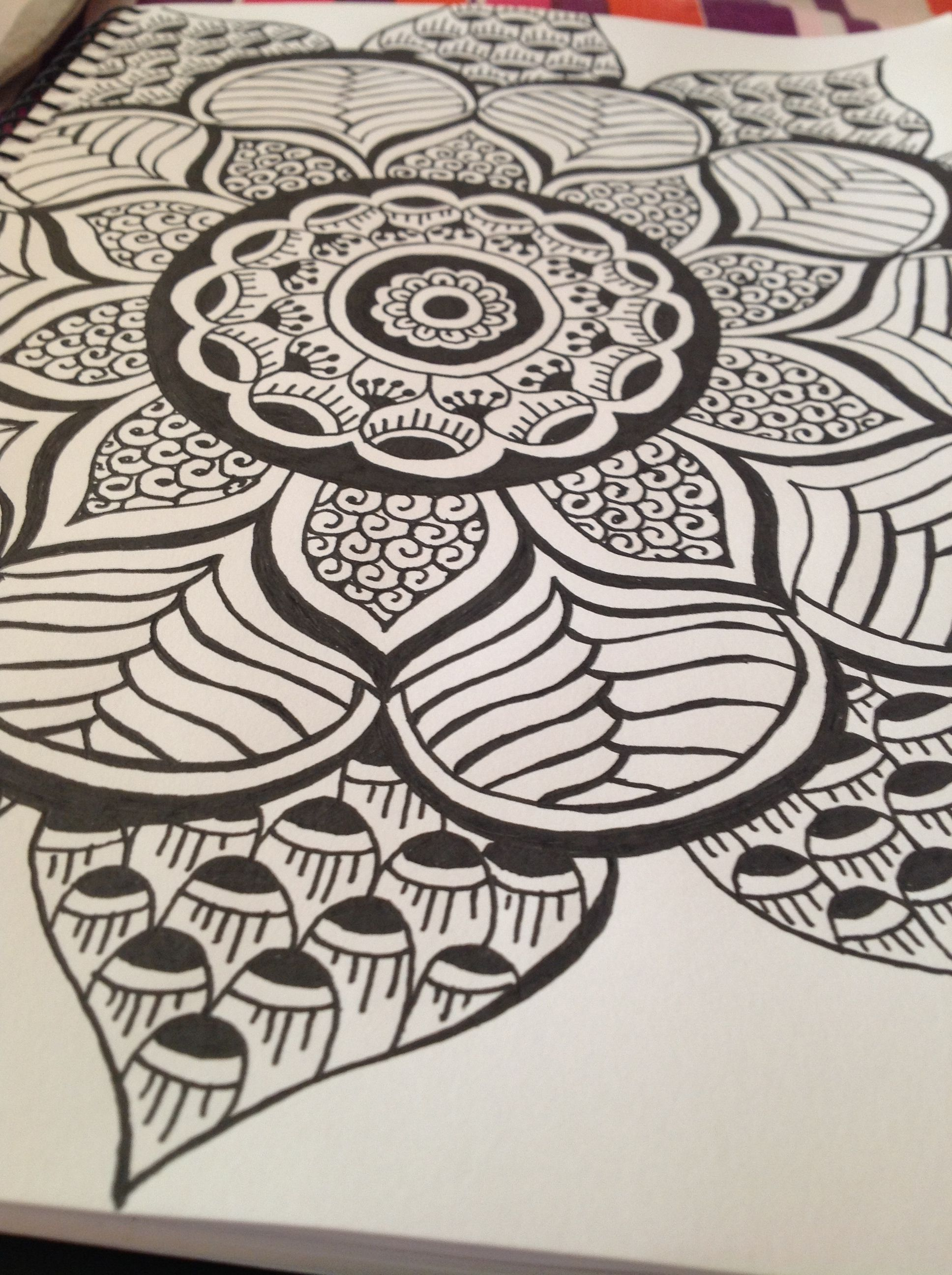 Zentangle Mandala | Zentangle drawings, Doodle art, Mandala