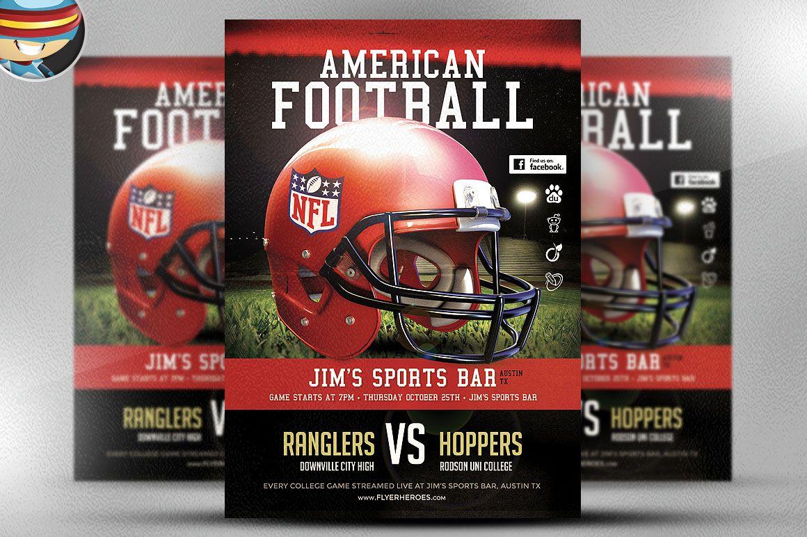 American Football Flyer Template Free Hobitfullring