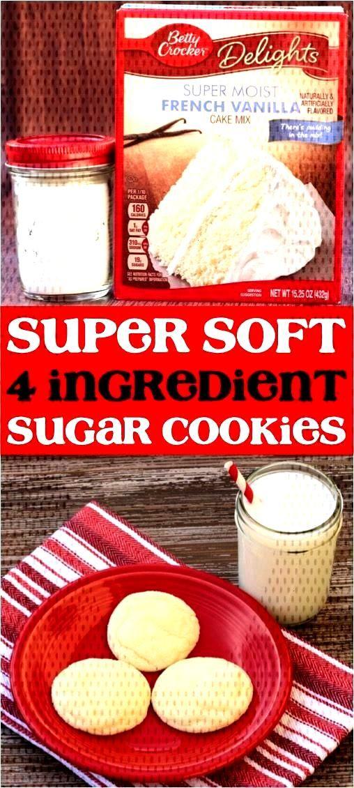 Soft Vanilla Sugar Cookies Recipe! (4 Ingredients) - Never Ending Journeys -