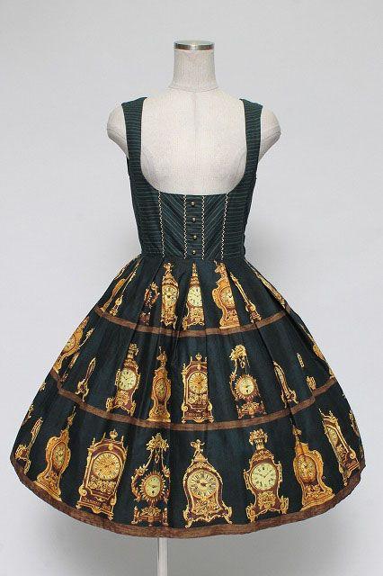 Innocent World / Antique Clock Tuck Jumper Skirt   Closet Child Online Shop