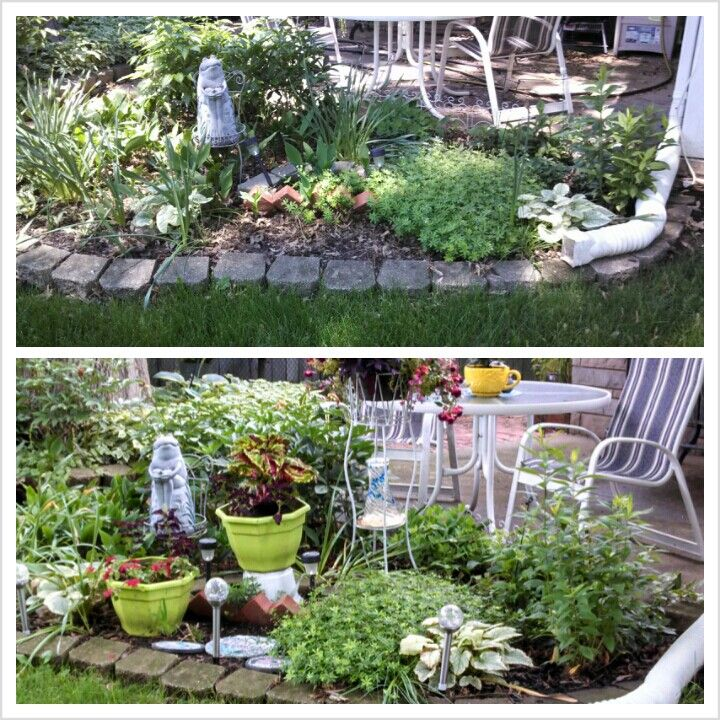 Before & after color pots will always bring bright spots