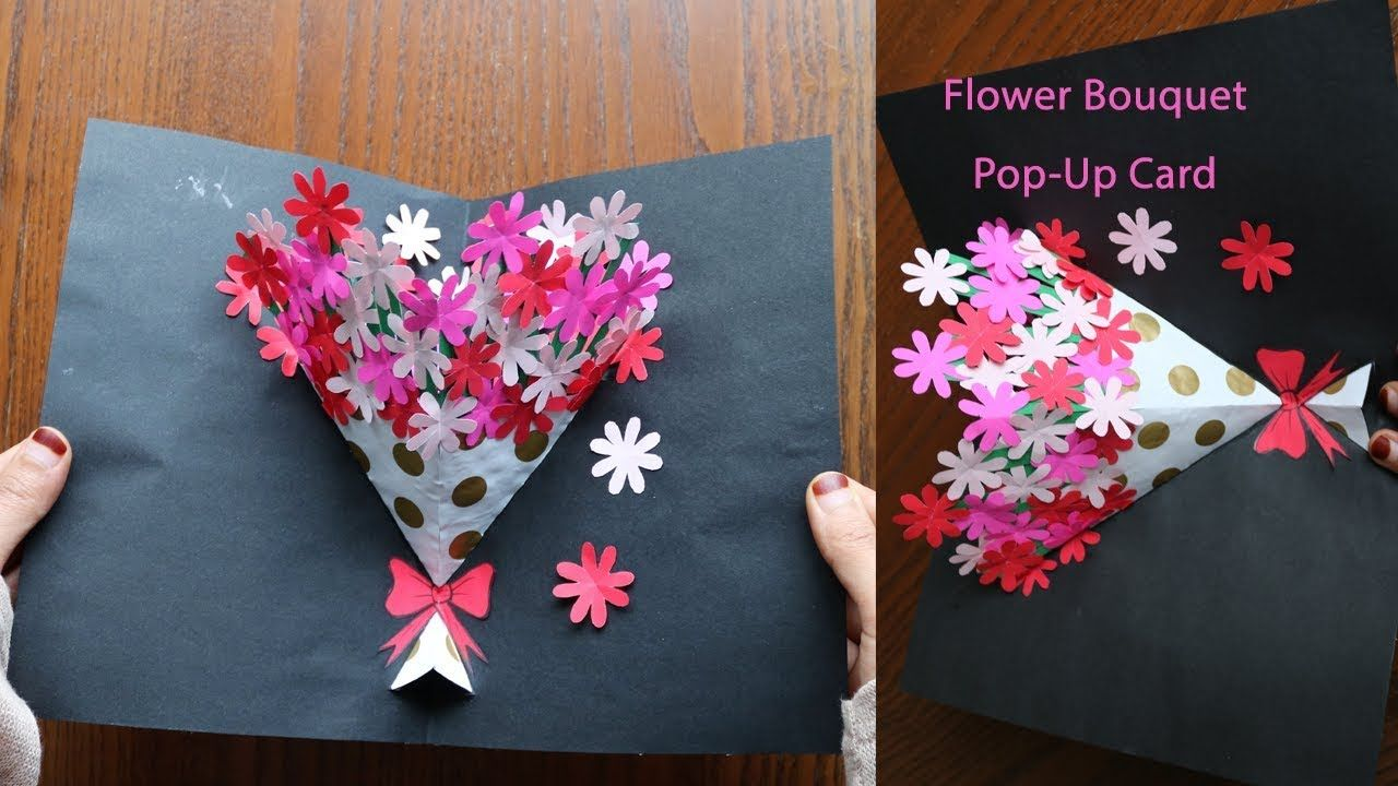 Diy Flower Bouquet Pop Up Card 7 Paper Crafts Handmade Craft