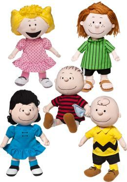 peanuts dolls charlie brown linus lucy sally peppermint patty