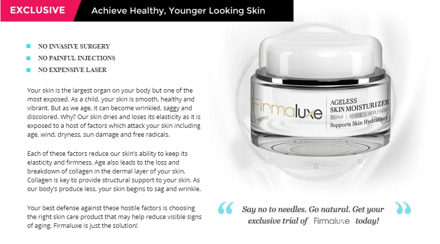 Firmaluxe Unique Anti Aging Cream Benefits Elements Revealed Anti Aging Cream Anti Aging Skin Moisturizer
