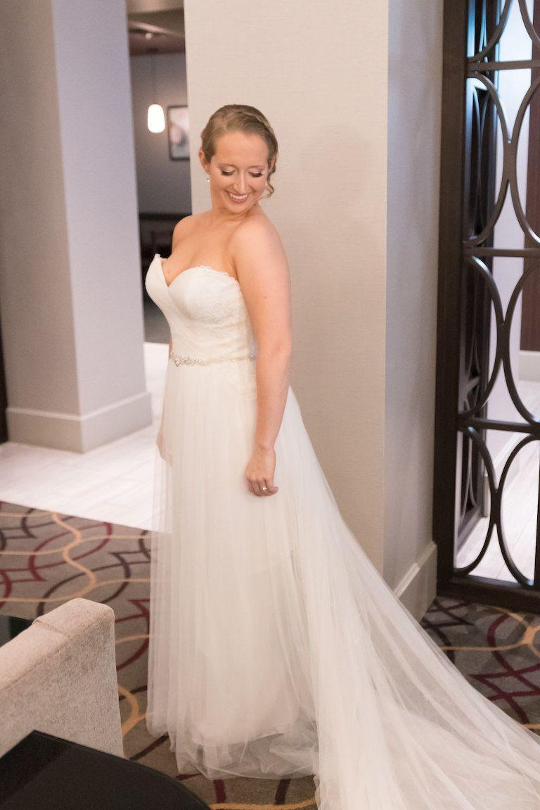 Braut immer bereit Portrait in Strapless eine Linie Maggie Sottero ...
