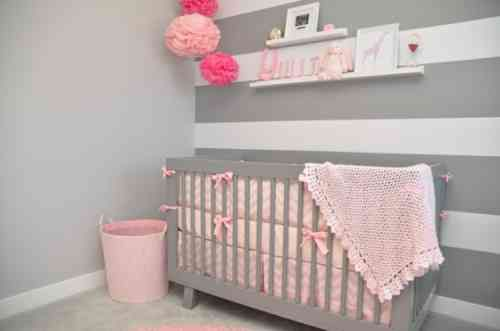 Déco chambre bébé fille en gris: pourquoi pas ! | Déco chambre ...