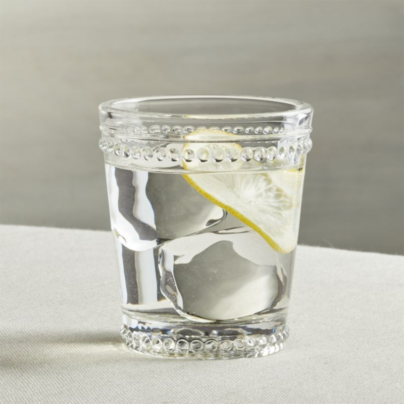 Shop Josie Double Old Fashioned Glass Raised Dots And Scalloped Details Nod To Traditional Pressed Glass In Fresh Old Fashioned Glass Glass Unique Glassware