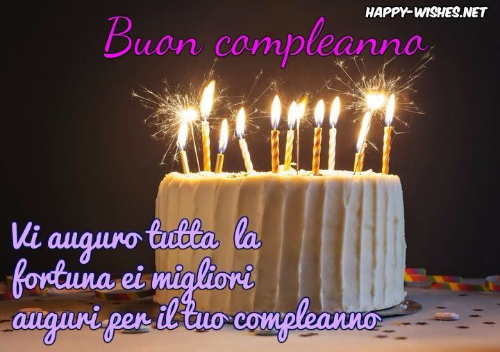 Happy Birthday Wishes In Italian