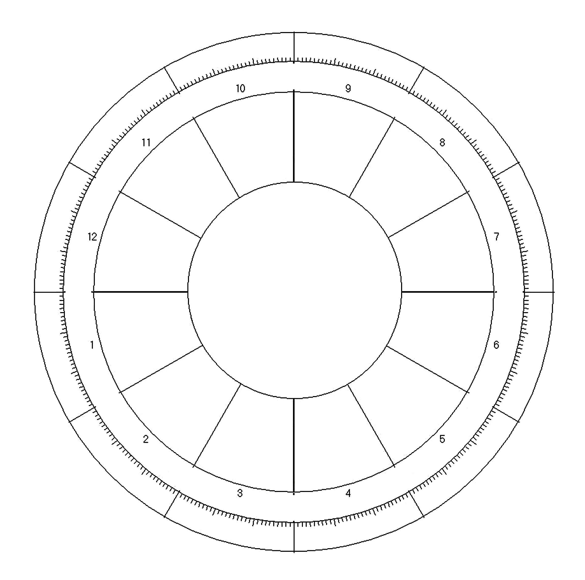 Image Result For Astrological Wheel Template