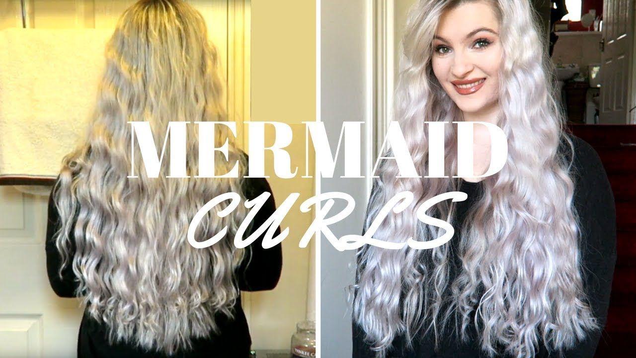 How To Easy Heatless Mermaid Waves Tutorial Youtube Mermaid