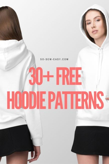 30+ FREE Hoodie Designs and Sewing Projects | Pinterest | Sewing ...