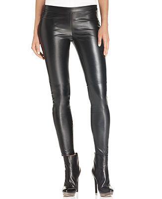 b9b9b65addc7e MICHAEL Michael Kors Pants, Faux-Leather Leggings - Leggings - Women -  Macy's