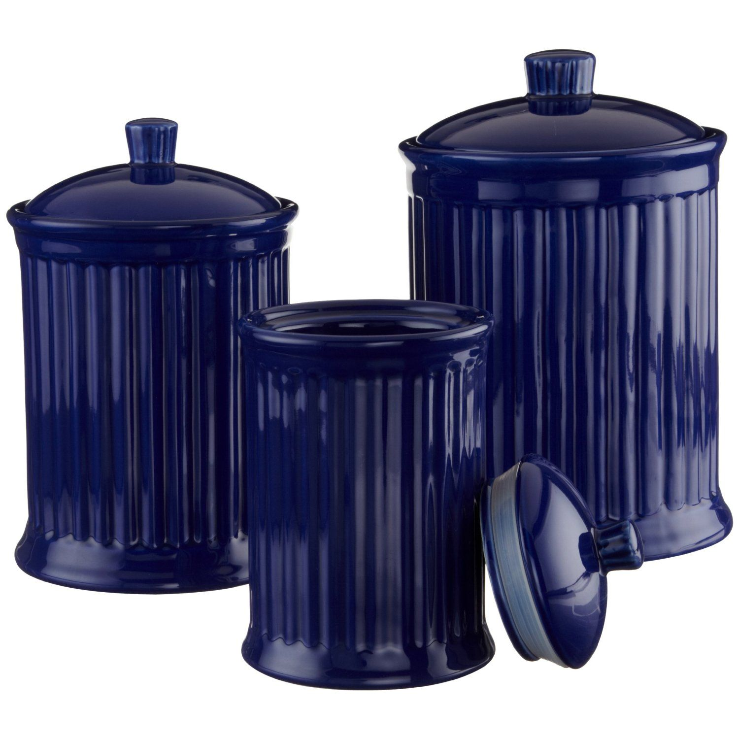 cobalt blue kitchen have a cobalt blue canister set with