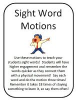 Rigor and Sight Words. Rigor in the early childhood