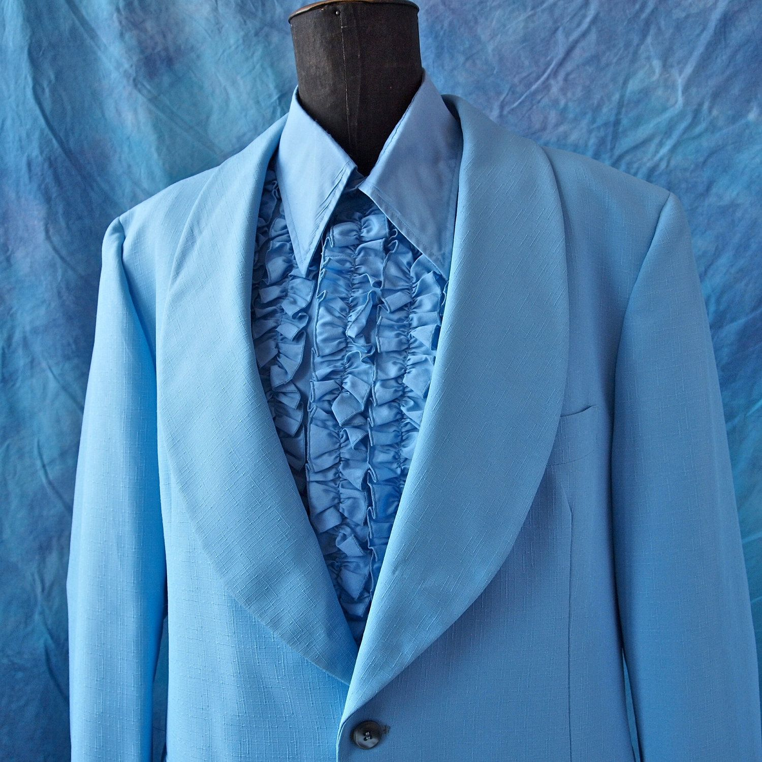 70s blue tuxedo. You KNOW you want this! lol | Fashion Vintage and ...