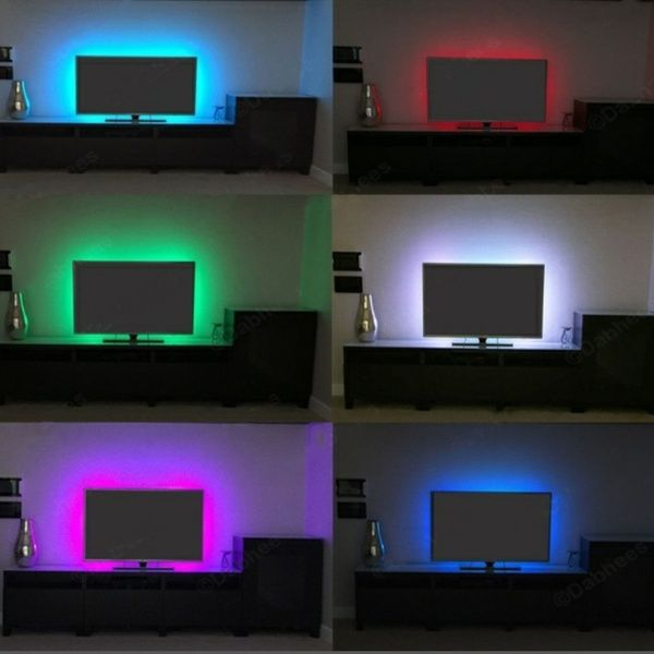 Usb Power Supply Led Strip 3528 1m Tape Tv Background Lighting Diy Decorative Lamp Lights
