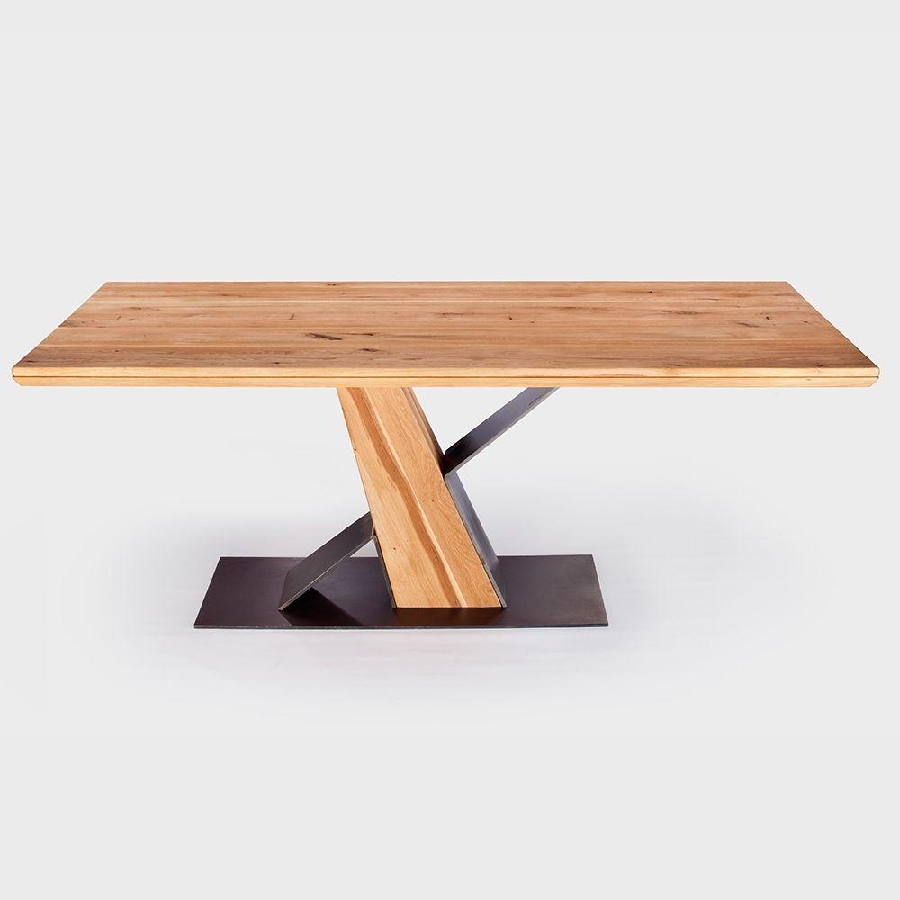 Esstisch Wildeiche Massiv 200 X 100cm Designer Frankfurt Table