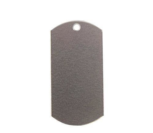 RMP Stamping Blanks, 1 x 2 Inch Dog Tag Blank With 1 Hole, Aluminum