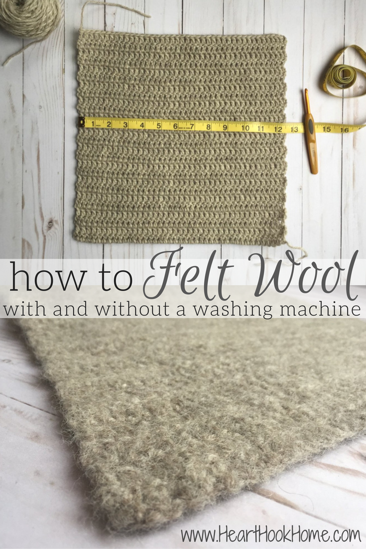 Felting Tutorial: How to Felt Wool (with or without a washing machine) #feltedwoolcrafts