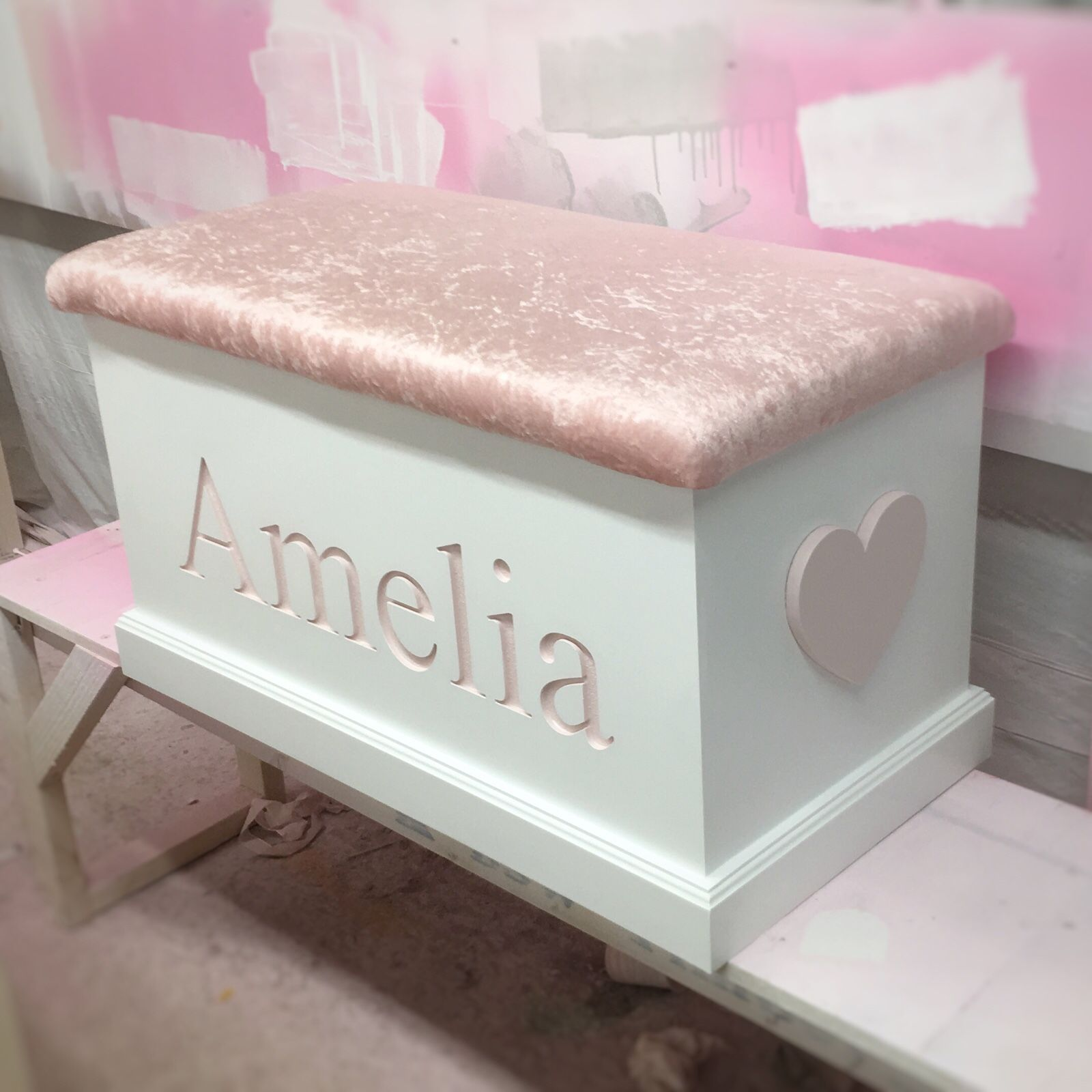 How Stunning Is This Combination Engraved Box With Baby Pink