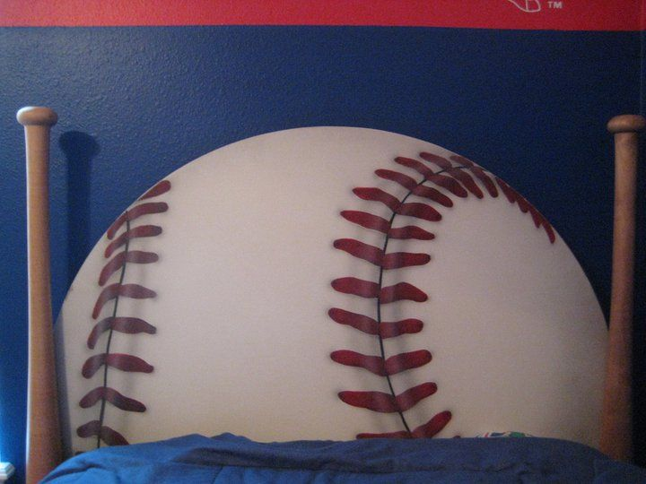 How Cool Is This Painted Baseball Headboard