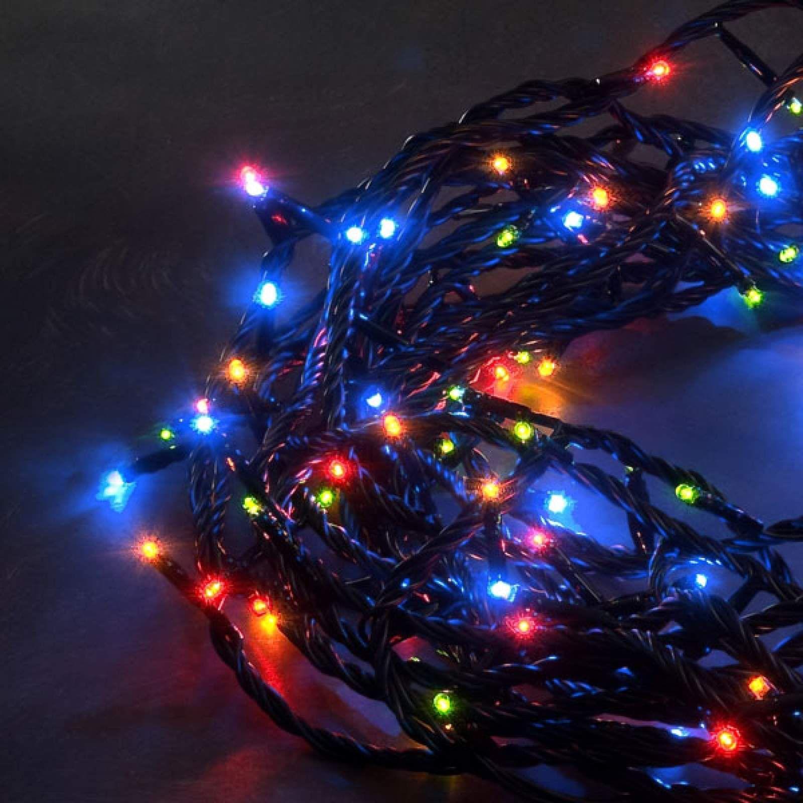 Lichterkette Led Von Konstmide Christmas Schwarz Led Lichterkette Und Bunt