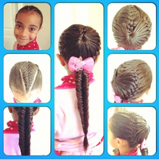 French Braid With A Crown And Low Ponytail Braided Into Fishtail