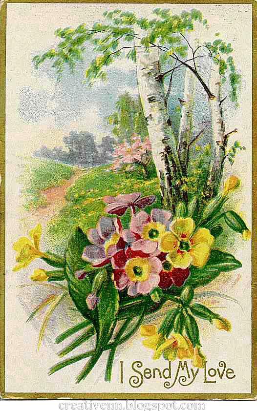 Винтажные открытки о весне, дебильные картинки