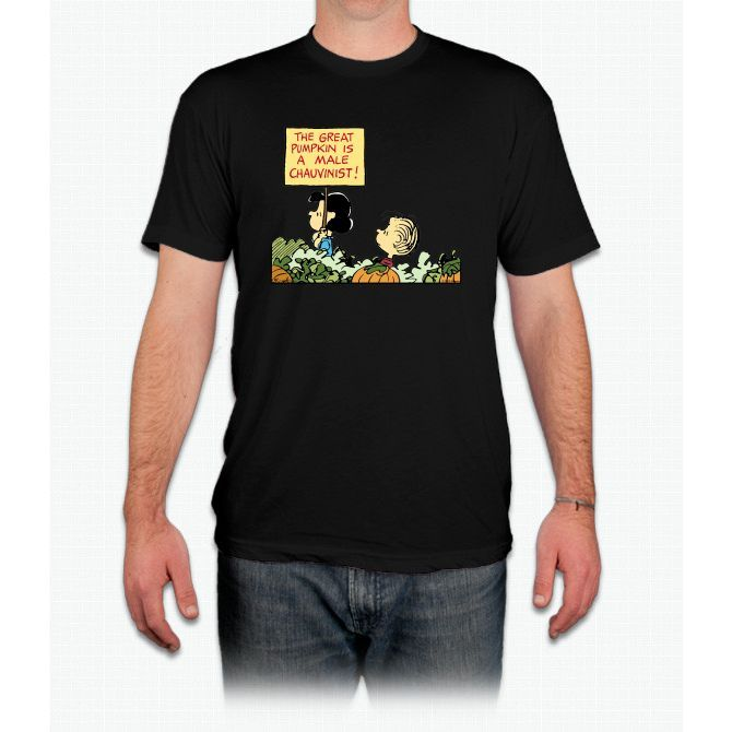 Lucy Protests The Great Pumpkin Charlie Brown - Men T-Shirt