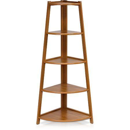 Furinno Fnaj 11112ex Yaotai 5 Layer Corner Ladder Garden Shelf Walmart Com Corner Ladder Shelf Shelves Garden Shelves