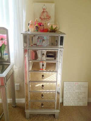 Good Ikea Makeup Storage Drawers...painted With Mirror Finish Spray Paint,  Turning What