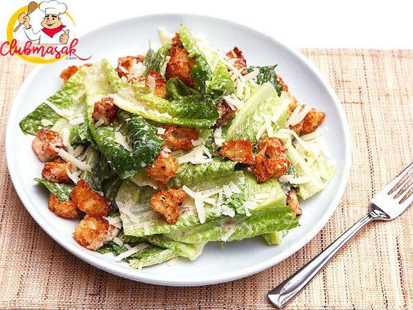 Resep Menu Utama Caesar Salad Italia Salad Sehat Untuk Diet Club Masak Caesar Salad Recipe Salad Dressing Recipes Classic Caesar Salad