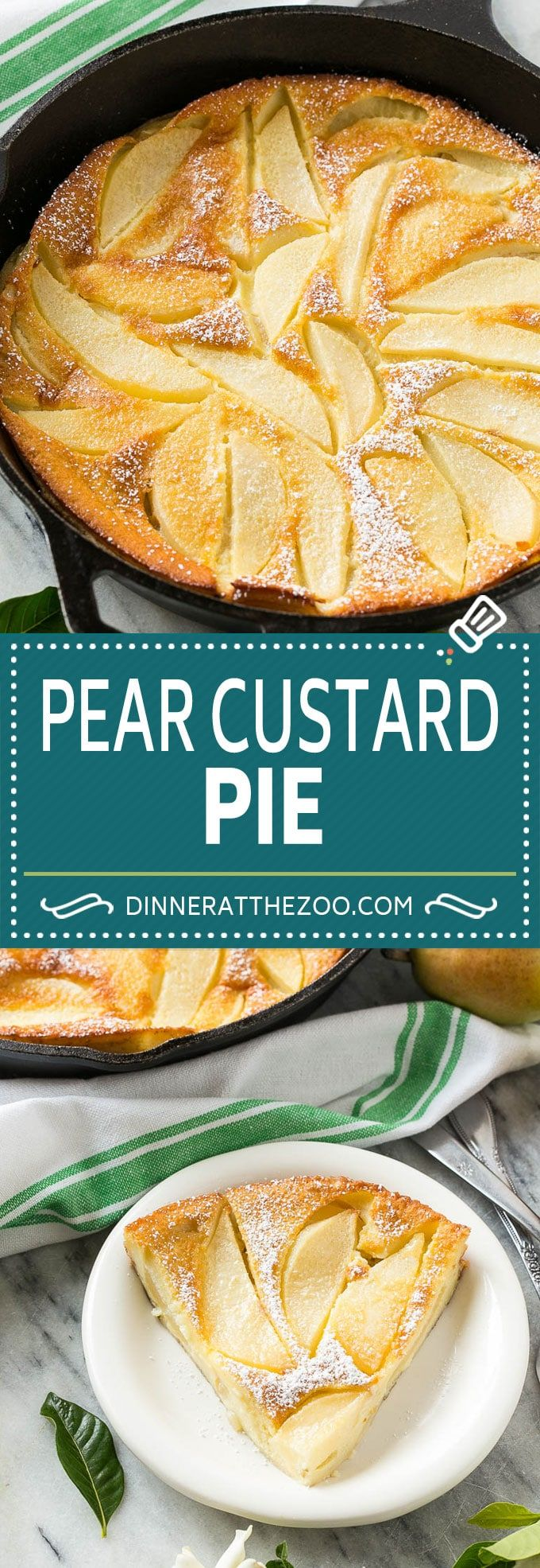 Pear Custard Pie - Dinner at the Zoo