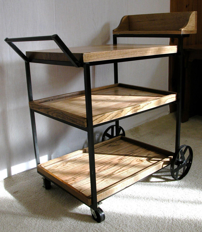 Vintage Wood Rolling Cart. $295.00, via Etsy. | Home ...