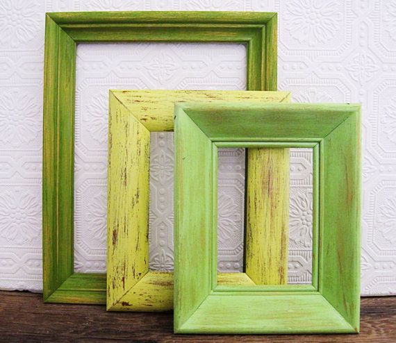 green picture frame set of 3 openempty rustic beach wall art on etsy