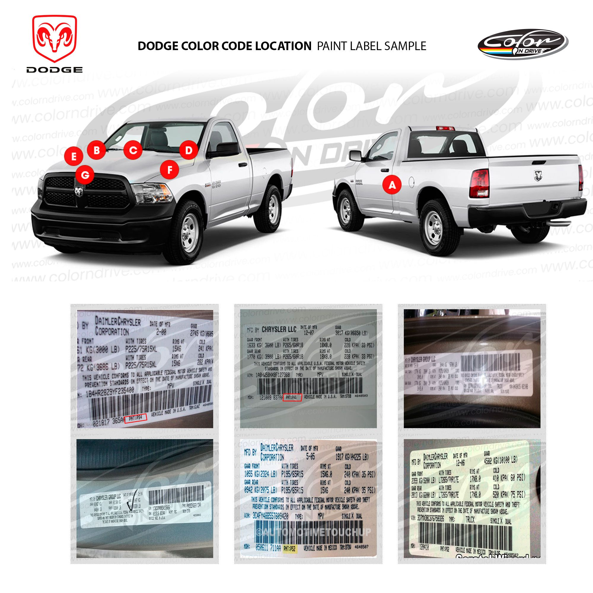 For Dodge paint code label location #dodge #car #colorndrive | How