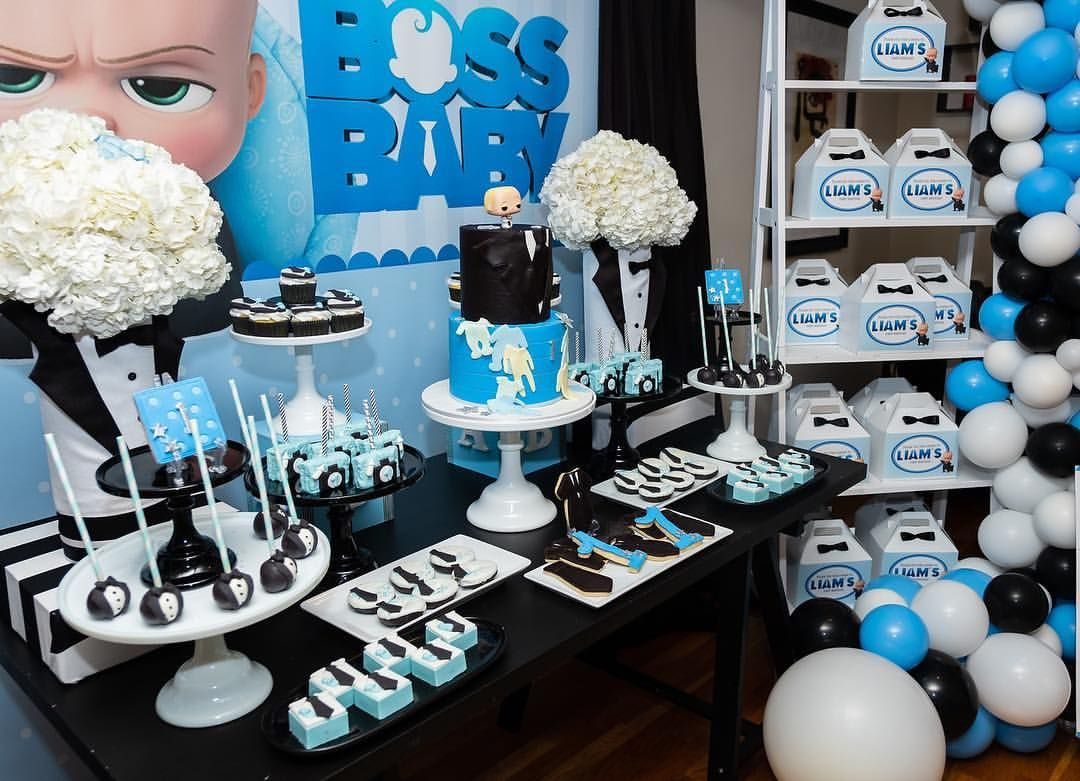 Boss Baby First Birthday Dkoran2nyc Baby Birthday Party Boy
