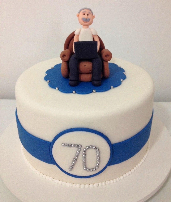 Aniversario 70 Anos Thecakeisonthetable Birthdaycake Com