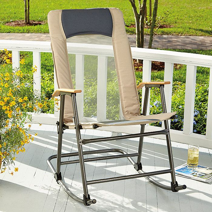 VentMesh Folding Outdoor Rocking Chair Outdoor rocking