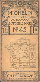 Michelin Map 1910 Map