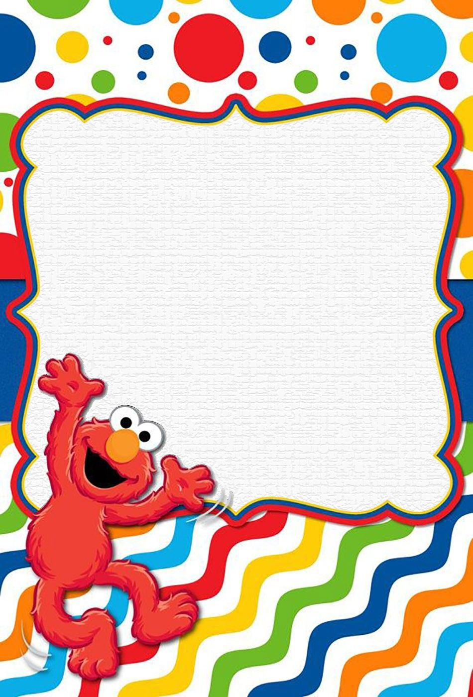 Free Online Elmo Invitation Template Birthday Party Invitations Baby