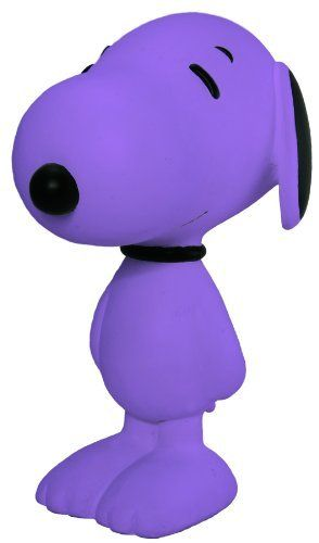 """Dark Horse Deluxe Snoopy 8"""" Vinyl Figure (Violet) by Dark Horse Deluxe. $25.49. Stands 8"""" tall. Limited edition vinyl figure is flocked with pastel hue. Collect all of the limited color variations. Limited to 750 pieces. Ears and nose are unflocked black vinyl. From the Manufacturer                Dark Horse continues its celebration of Charles Schulz's masterpiece, Peanuts, with limited-edition 8"""" flocked vinyl Snoopy figures in a rainbow of contemporary colors. Peanuts Wo..."""