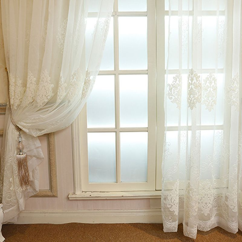 Classical European Luxurious Style Transparent White/Beige/Blue Dye Yarn Curtains for Living Room Bedroom Kitchen WP367 #20
