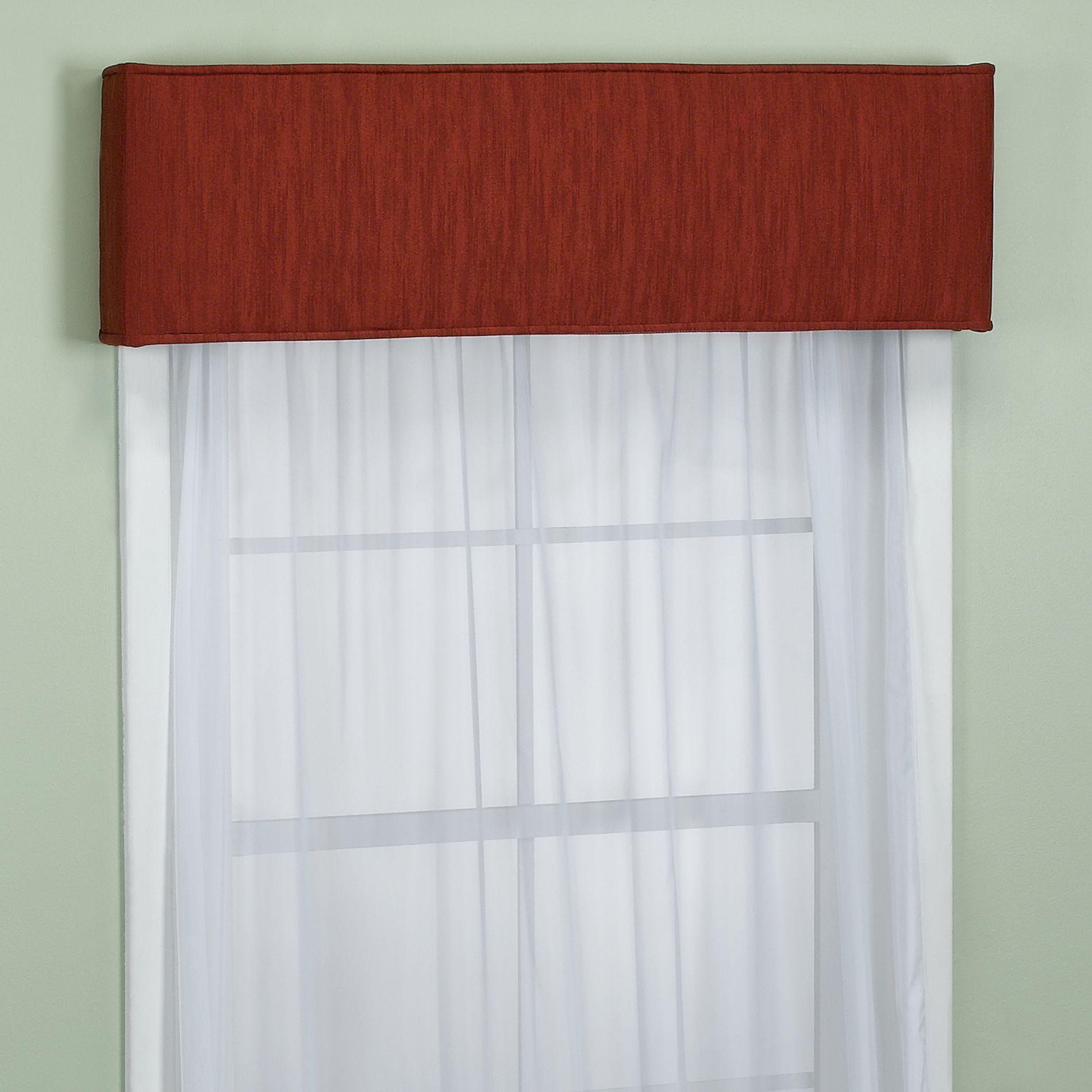 Bed bath and beyond window curtains  nicole window cornice in mahogany  bedbathandbeyond